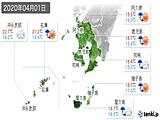 2020年04月01日の鹿児島県の実況天気