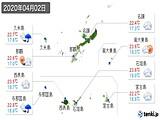 2020年04月02日の沖縄県の実況天気