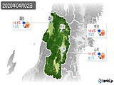 2020年04月02日の山形県の実況天気