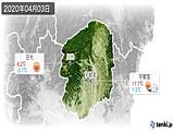 2020年04月03日の栃木県の実況天気