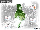 2020年04月03日の兵庫県の実況天気