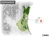 2020年04月04日の茨城県の実況天気