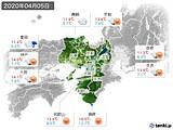 2020年04月05日の近畿地方の実況天気