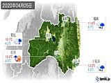2020年04月05日の福島県の実況天気