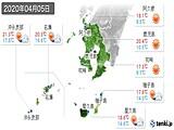2020年04月05日の鹿児島県の実況天気