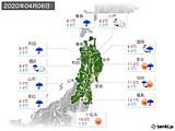 2020年04月06日の東北地方の実況天気