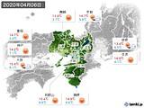 2020年04月06日の近畿地方の実況天気