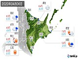 2020年04月06日の道東の実況天気