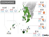 2020年04月06日の鹿児島県の実況天気