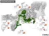 2020年04月07日の東海地方の実況天気
