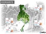 2020年04月07日の兵庫県の実況天気