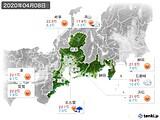 2020年04月08日の東海地方の実況天気