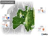 2020年04月08日の福島県の実況天気