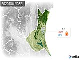2020年04月08日の茨城県の実況天気