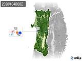 2020年04月08日の秋田県の実況天気