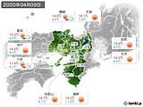 2020年04月09日の近畿地方の実況天気