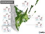 2020年04月09日の道東の実況天気