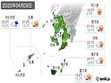 2020年04月09日の鹿児島県の実況天気