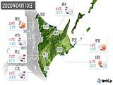 2020年04月10日の道東の実況天気