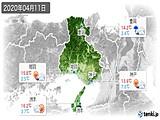 2020年04月11日の兵庫県の実況天気