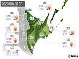 2020年04月12日の道東の実況天気