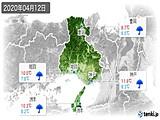 2020年04月12日の兵庫県の実況天気