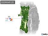 2020年04月12日の秋田県の実況天気