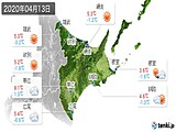 2020年04月13日の道東の実況天気