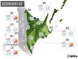 2020年04月14日の道東の実況天気