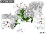 2020年04月15日の東海地方の実況天気