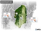 2020年04月15日の栃木県の実況天気