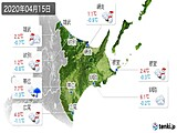 2020年04月15日の道東の実況天気