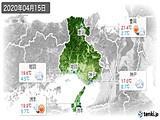 2020年04月15日の兵庫県の実況天気