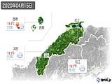 2020年04月15日の島根県の実況天気