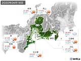 2020年04月16日の東海地方の実況天気