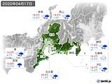 2020年04月17日の東海地方の実況天気