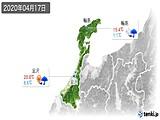 2020年04月17日の石川県の実況天気