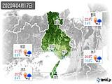 2020年04月17日の兵庫県の実況天気