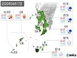 2020年04月17日の鹿児島県の実況天気