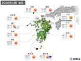 2020年04月18日の九州地方の実況天気