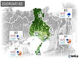 2020年04月18日の兵庫県の実況天気