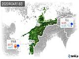 2020年04月18日の愛媛県の実況天気