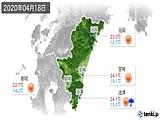 2020年04月18日の宮崎県の実況天気