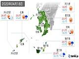 2020年04月18日の鹿児島県の実況天気