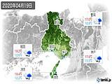 2020年04月19日の兵庫県の実況天気