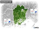 2020年04月19日の岡山県の実況天気