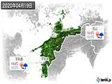 2020年04月19日の愛媛県の実況天気