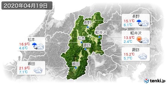 長野県(2020年04月19日の天気
