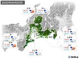2020年04月20日の東海地方の実況天気