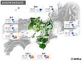 2020年04月20日の近畿地方の実況天気